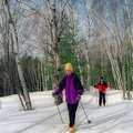 Nordic skiers at Algonquin Cross Country Ski Trail.