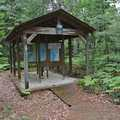 Trailhead shelter at Torch Bay Nature Preserve.
