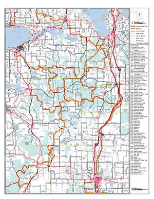 Trail map petoskey snowmobile club petoskey trail map publicscrutiny Image collections