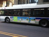 In addition to the traditional billboards we include other forms outdoor like this bus in Chicago. With outdoor we cover Minnesota, Wisconsin, lower Michigan, Northern Indiana and the Chicago area.