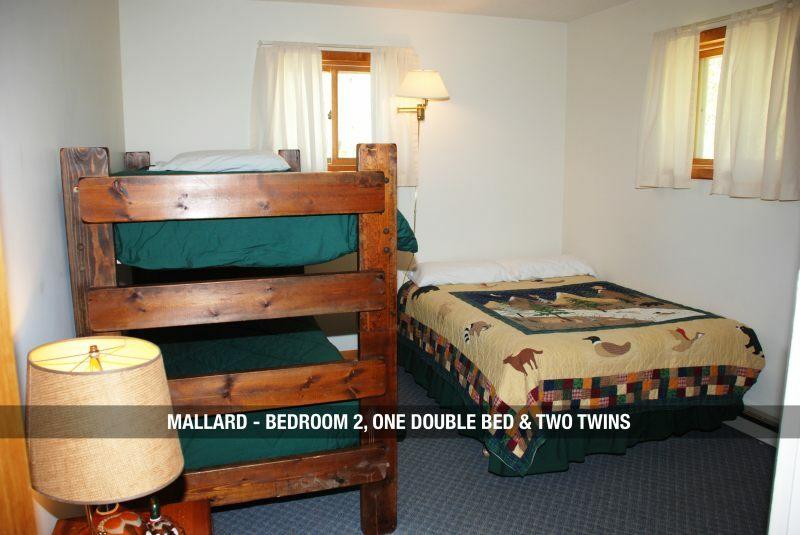 Mallard - Bedroom 2 One Double Bed u0026 Two Twins & Root Cellar Resort u0026 Restaurant - UP Travel