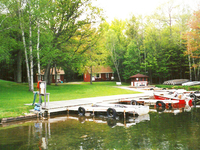 Docks and Boats at Crystal Waters Resort on Fortune Lake