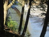 Side view Upper Tahquamenon Falls
