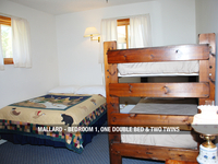 Mallard - Bedroom 1, One Double Bed & Two Twins