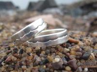 Silver Wave Rings