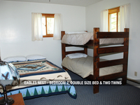 Eagles Next - Bedroom 2, One Double Bed & Two Twins