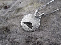 Small Round Hammered Lake Superior Sterling Silver Pendant