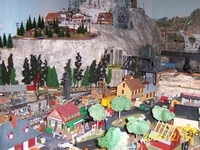One end of the Model Railroad layout at the Inn