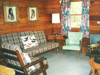 Inside one of our cabins