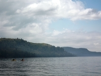 kayaking to Bear Bluff