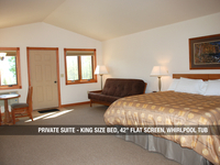 "Private Suite - King Bed, 42"" Flat Screen, Whirlpool Tub"