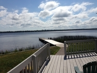 On the deck at the Inn on Lac Labelle