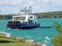 Drummond Island Ferry - Freighter viewing and a boat ride.