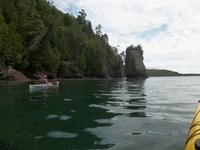 sea stacks along the shoreline