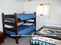 Eagles Next - Bedroom 3, One Double Bed & Two Twins