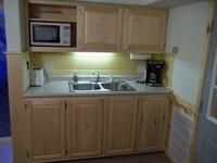 Kitchen sink area cabin