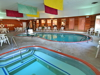 Relax in our Pool, Children's Spa, or Sauna
