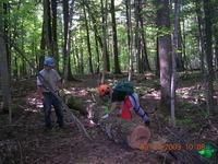 Trail Clearing On the North Country Trail