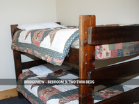 Bridgeview - Bedroom 3, Two Twin Beds