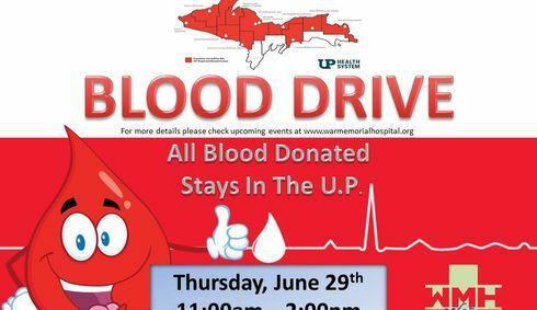 WMH / U.P. Regional Blood Center BLOOD DRIVE