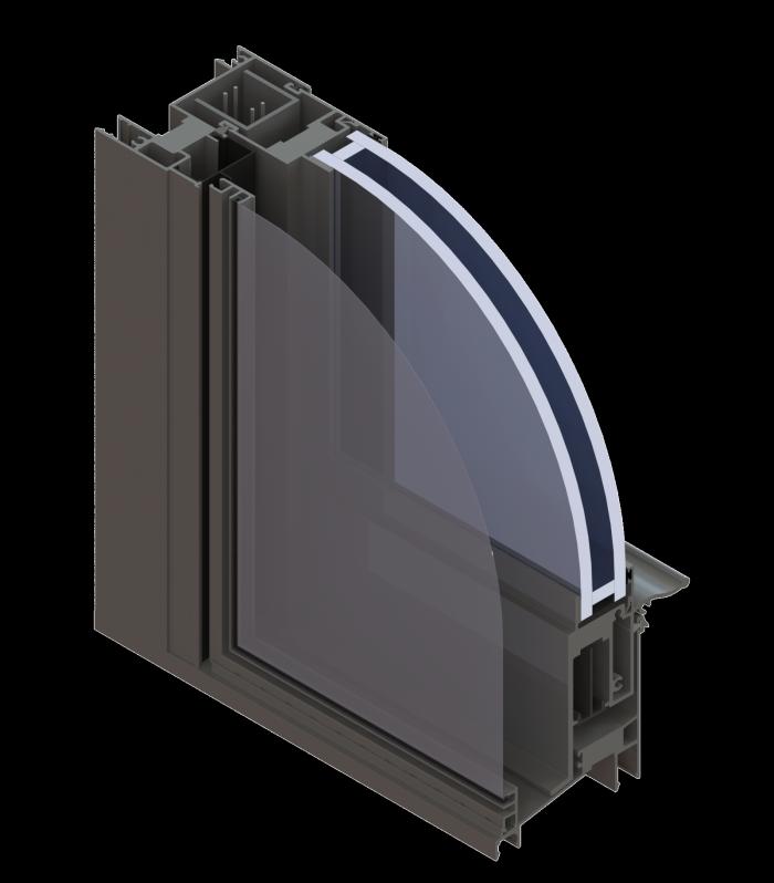 Large Missile Impact Commercial Aluminum Windows