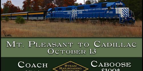 Cadillac Countryside Fall Color Train Excursion Events And