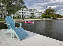 Beautiful dock and Condo shot