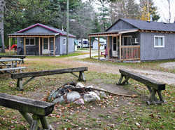 Cabins with bonfire access...