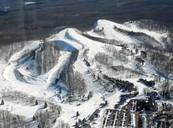Slope side to Caberfae Ski slopes