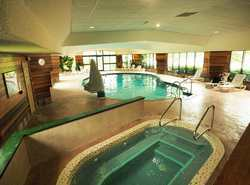 Enjoy our indoor pool and whirlpool spa