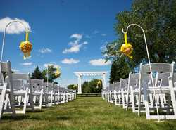 Your wedding on our lawn this summer...