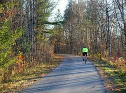 Fall bicycling on the White Pine Trail