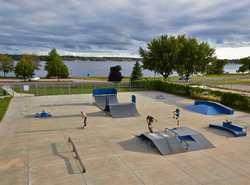 Blackburn skate park, along the route