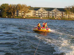 tubing out in front of the complex... too much fun!
