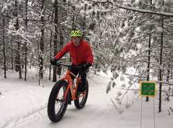 Fat tire biking on the Winter Sports Trail