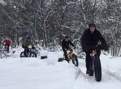 A Group Fat Tire Biking on the pathway - WST
