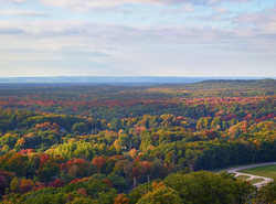 Overlooking the Huron Manistee National Forest - Rte 2