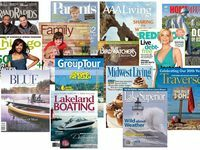 Some of the publications used for getting our message out. Magazines include both local, regional and national reach