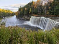 The Upper Tahquamenon Falls is the second largest waterfall east of the Mississippi River.