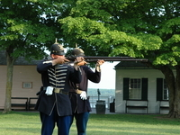 Rifle Firing Demonstration, Fort Mackinac, Mackinac Island