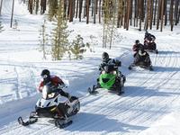 Snowmobiling in Michigan's Trailhead