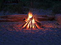 Relaxing At The Beach Fire