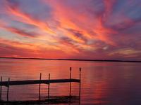 Sunset over Big Manistique Lake
