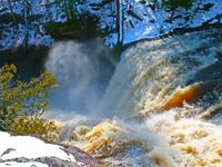 Rainbow Falls during Spring melt