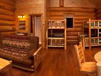 inside view of Upper unit of Aqua log cabin