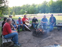 Singing around the camp fire