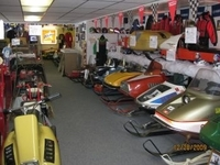 Some of the great variety of snowmobiles on display