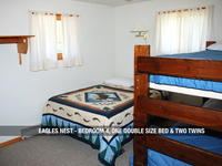 Eagles Next - Bedroom 4, One Double Bed & Two Twins