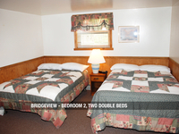 Bridgeview - Bedroom 2, Two Double Beds