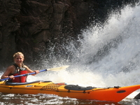 Kayaking Lake Superior and the mouth of the Montreal River